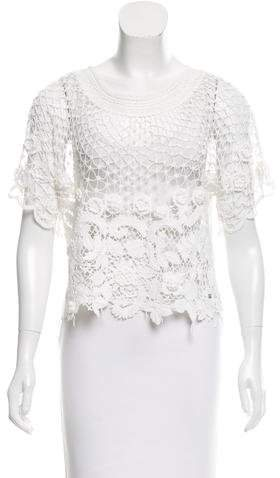 Chanel Crocheted Lace Top