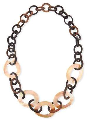 Viktoria Hayman Mixed Mother-of-Pearl & Wood Link Necklace