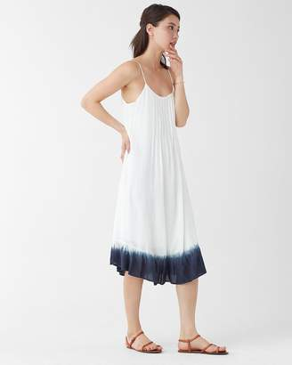 Splendid Ocean Dipped Pleated Cami Dress