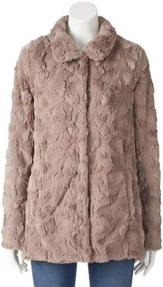 Women's Weathercast Faux-Fur Jacket $180 thestylecure.com