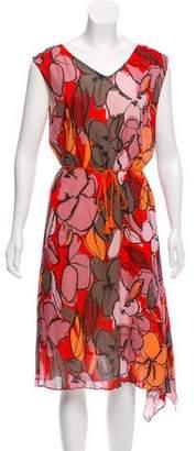 Paul Smith Floral Print Midi Dress