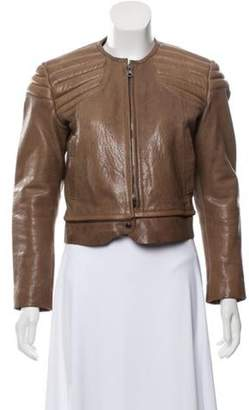 Acne Studios Quilted Leather Jacket Brown Quilted Leather Jacket