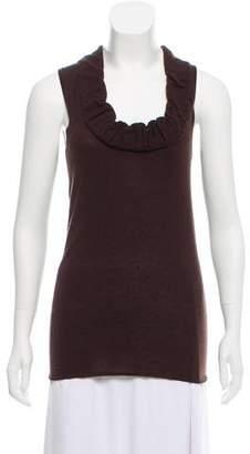 Lela Rose Sleeveless Cashmere Top