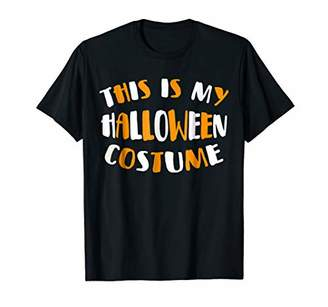 This Is my Halloween Costume T-Shirt Funny Party Tee Shirt