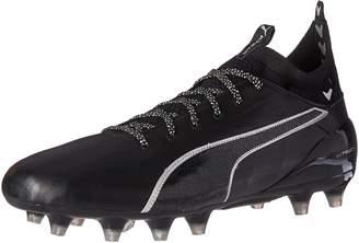 Puma Men's Evotouch 1 FG Soccer Shoe, Black Black Silver