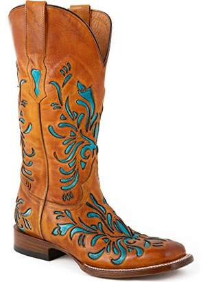 Stetson Women's 13 Inch Burnished Saddle Underlay Riding Boot