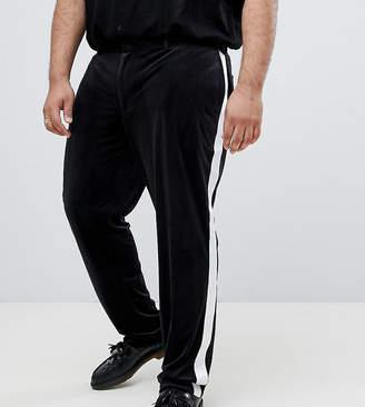 Asos Design DESIGN Plus skinny tuxedo suit pants in black