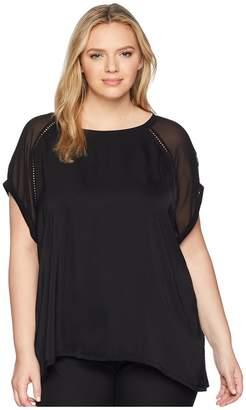 Bobeau B Collection by Plus Size Isla Mixed Tee Women's T Shirt