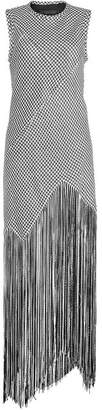 Proenza Schouler Anniversary Collection Basket Weave Fringed Dress