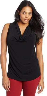 Calvin Klein Women's Plus-Size Solid Cowl Neck