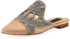 Donna Karan Pheona Embellished Satin Mule