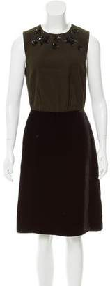 Prada Embellished Knee-Length Dress w/ Tags