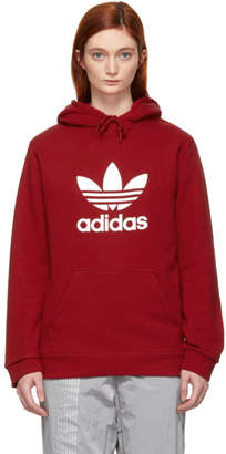 adidas Red Trefoil Logo Warm-Up Hoodie