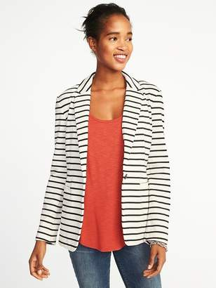 Old Navy Classic Striped Knit Blazer for Women