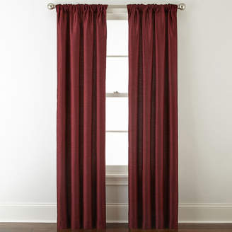 Liz Claiborne JCPenney Home Westfield Room-Darkening Rod-Pocket/Back-Tab Curtain Panel