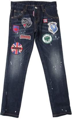 DSQUARED2 Patches Stretch Cotton Denim Jeans