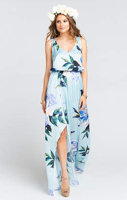 Show Me Your Mumu Kendall Maxi Dress ~ Mint to Be Floral