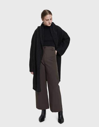 LAUREN MANOOGIAN Capote Shawl Coat in Black Melange