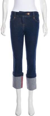 Diane von Furstenberg Mid-Rise Straight-Leg Jeans