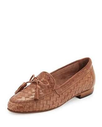 Sesto Meucci Nicole Woven Leather Loafer, Natural $360 thestylecure.com