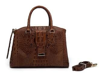 Vicenzo Leather Olivia Croc Embossed Leather Handbag