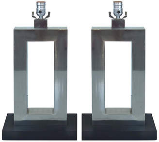 One Kings Lane Vintage Stainless Steel Table Lamps - Set of 2