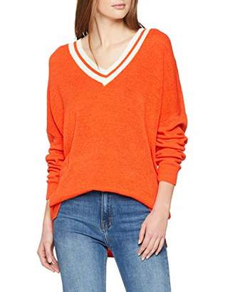 Tom Tailor Women's 1009112 Jumper, (Bright Red 15612), X-Large