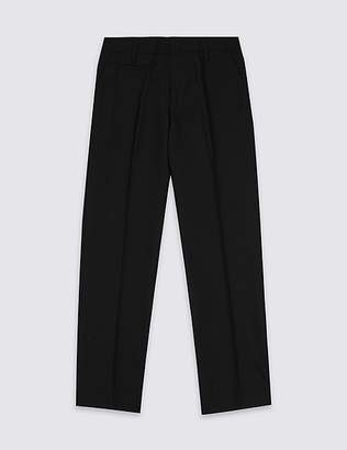 Marks and Spencer Boys' Plus Fit Slim Leg Trousers