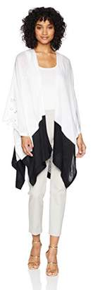 Collection XIIX Women's Color Block Knit Cover up