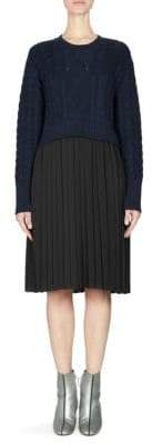 Kenzo Knit Pleated Sweater Dress