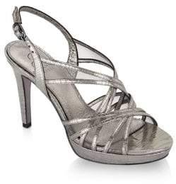 Adrianna Papell Adri Strappy Metallic Strappy Sandals