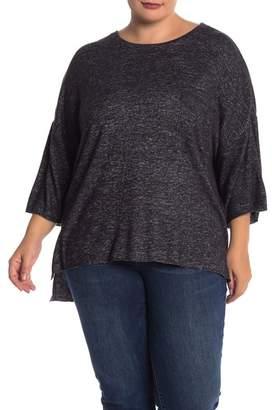 Philosophy Apparel Drop Shoulder Cozy Knit Pullover (Plus Size)