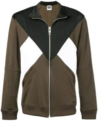 Les Hommes Urban colour block zipped jacket