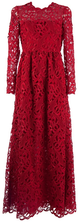 Valentino crochet maxi dress