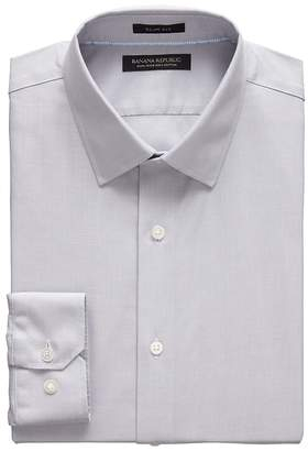 Banana Republic Grant Slim-Fit Non-Iron Herringbone Dress Shirt