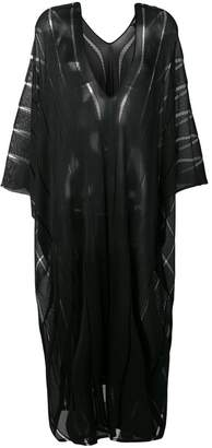 Tom Ford long sheer stripe kaftan