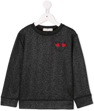 Stella McCartney ladybug smiley face sweatshirt