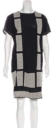 DAY Birger et Mikkelsen Crepe Embroidered Dress