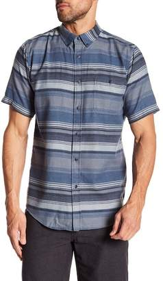 Ezekiel Driftwood Stripe Short Sleeve Regular Fit Shirt