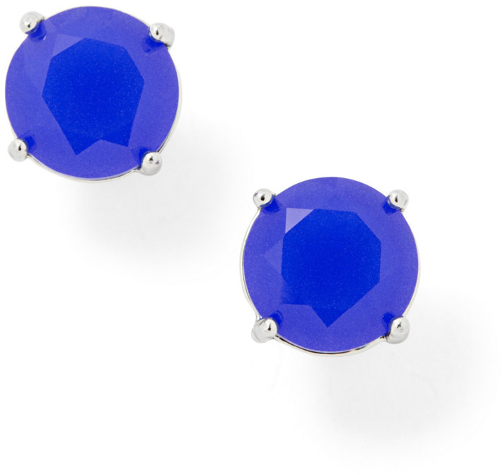 Fossil Glass Studs- Blue