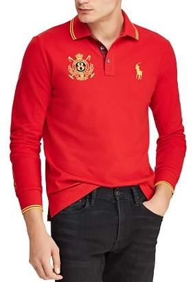 Polo Ralph Lauren Long-Sleeve Mesh Custom Slim Fit Polo Shirt
