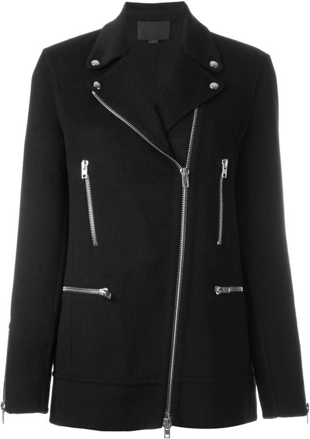 Alexander WangAlexander Wang asymmetric zip coat