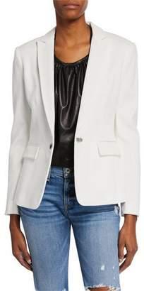 Rag & Bone Lexington Hook-Front Pique Blazer