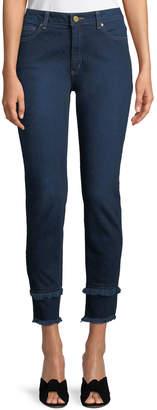 MICHAEL Michael Kors Double-Frayed Hem Skinny Jeans