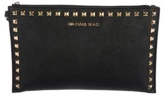 MICHAEL Michael Kors Studded Leather Zip Pouch