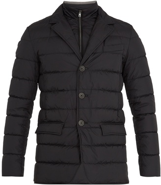 Chamonix detachable-placket padded down coat