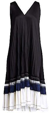 3.1 Phillip Lim Women's V-Back Pleated Shift Dress
