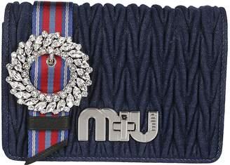 Miu Miu Striped Strap Clutch