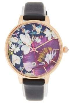 Ted Baker Kate Kaleidoscope Leather Strap Watch