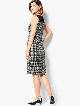 Talbots Textured Houndstooth Sheath Dress